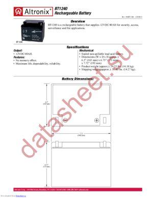 BT1240 datasheet скачать даташит