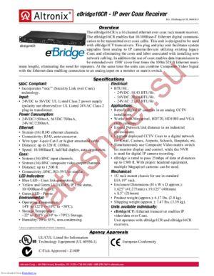 eBridge16CR datasheet скачать даташит
