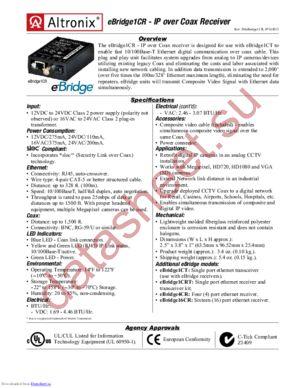 eBridge1CR datasheet скачать даташит