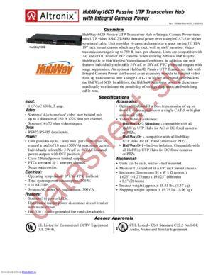 HubWay16CD datasheet скачать даташит