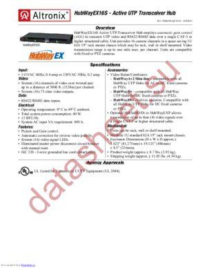 HubWayEX16S datasheet скачать даташит