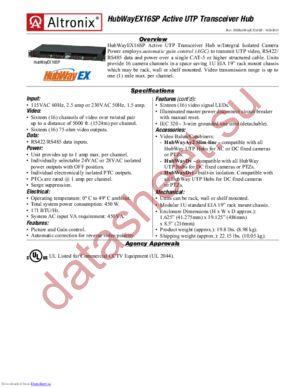 HubWayEX16SP datasheet скачать даташит