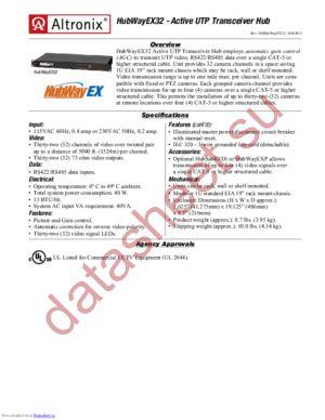 HubWayEX32 datasheet скачать даташит