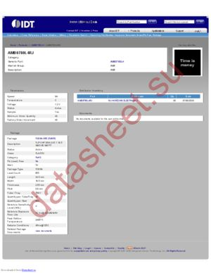 IDTAMB0780L4RJ datasheet скачать даташит