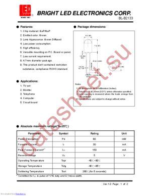 BL-B2133 datasheet скачать даташит