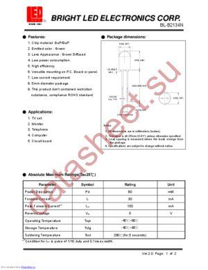 BL-B2134N datasheet скачать даташит