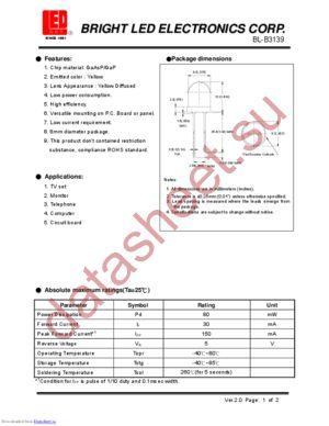 BL-B3139 datasheet скачать даташит