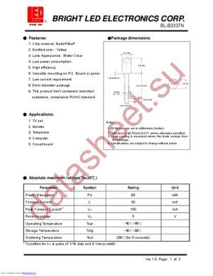 BL-B3337N datasheet скачать даташит