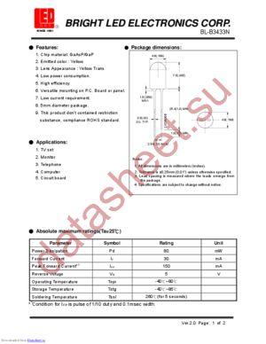 BL-B3433N datasheet скачать даташит