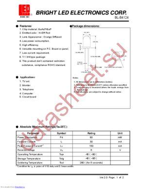 BL-B4124 datasheet скачать даташит