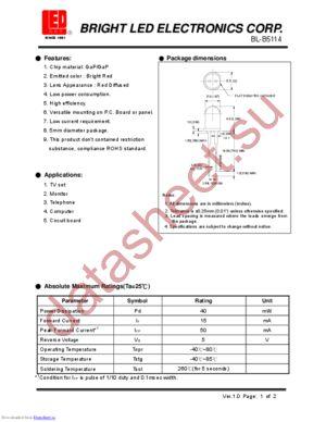 BL-B5114 datasheet скачать даташит