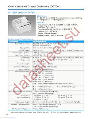 OC-260-DJF-107BA-20 datasheet скачать даташит