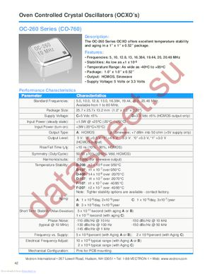 OC-260-DJB-208AA-20 datasheet скачать даташит