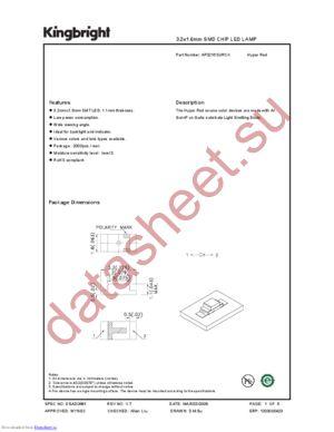 AP3216SURCK datasheet скачать даташит
