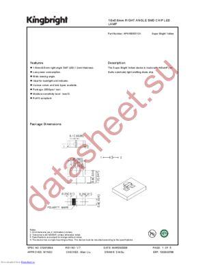 APA1606SYCK datasheet скачать даташит