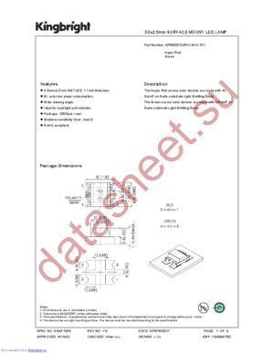 APB3025SURKCGKC-F01 datasheet скачать даташит