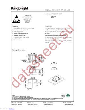 APB3025SURKQWDF datasheet скачать даташит