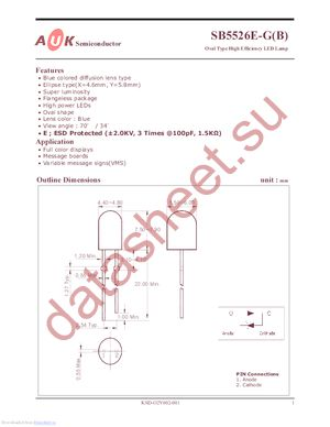 SB5526E-G datasheet скачать даташит