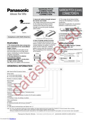 AXK7L70217G datasheet скачать даташит