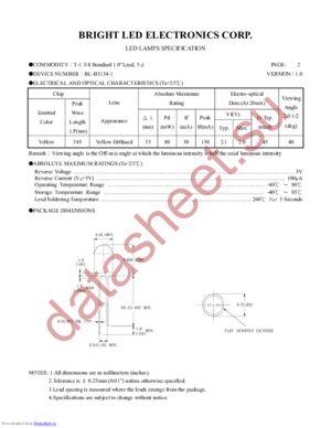 BL-B3134-1 datasheet скачать даташит