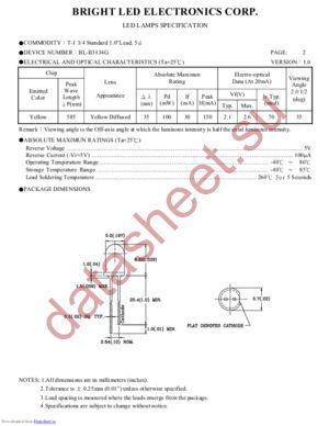 BL-B3134G datasheet скачать даташит
