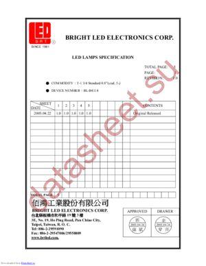 BL-B4114 datasheet скачать даташит