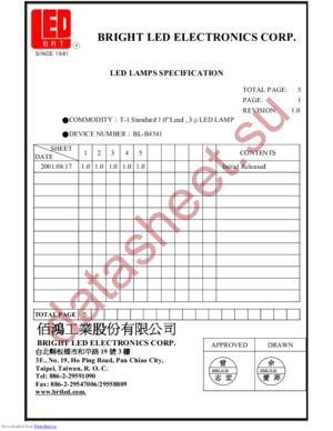 BL-B4541 datasheet скачать даташит