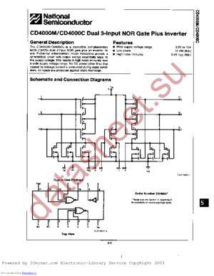 CD4000CN datasheet скачать даташит