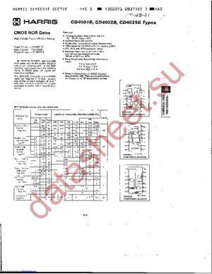 CD4001BH datasheet скачать даташит
