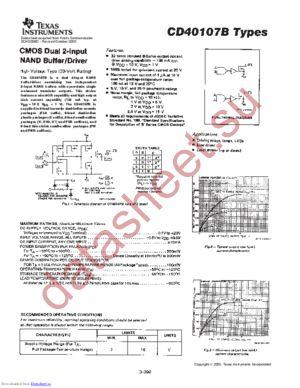 CD40107B-MIL datasheet скачать даташит