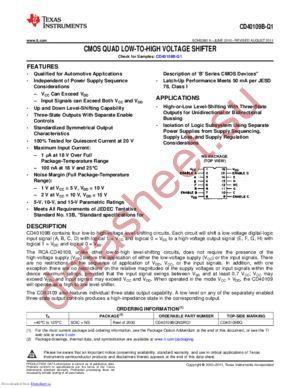 CD40109B-Q1 datasheet скачать даташит