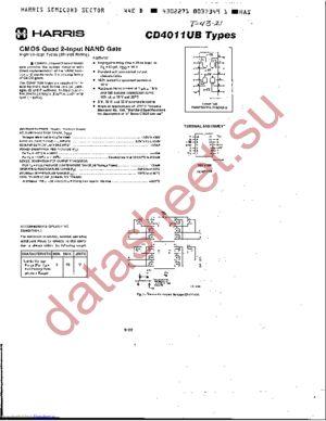CD4011UBH datasheet скачать даташит