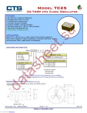 TC25L5I32K7680 datasheet скачать даташит