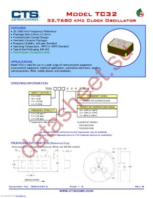 TC32L5I32K7680 datasheet скачать даташит