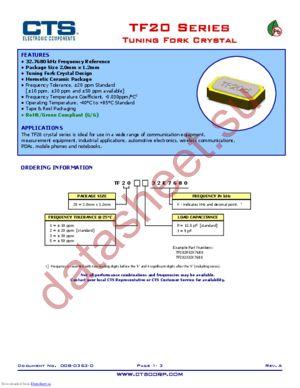 TF202P32K7680 datasheet скачать даташит
