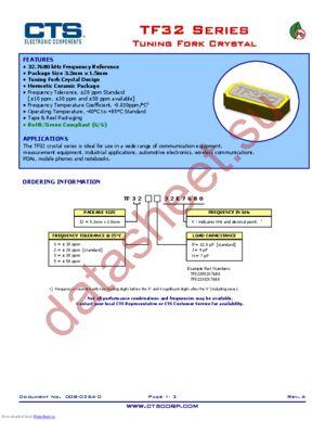 TF322P32K7680 datasheet скачать даташит