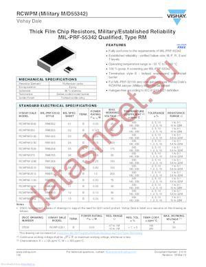 D55342K07B3K30RWB datasheet скачать даташит