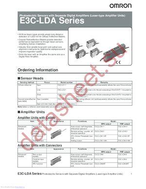 E3X-MC11-C1-S datasheet скачать даташит