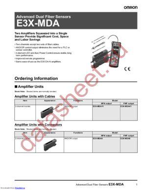 E3XMDA8 datasheet скачать даташит