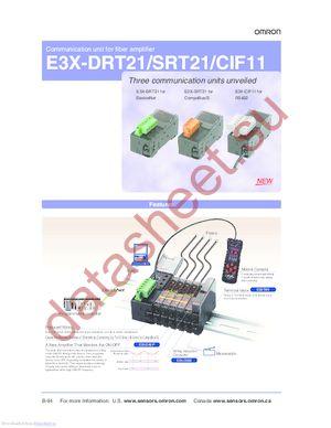 E3X-CIF11 datasheet скачать даташит