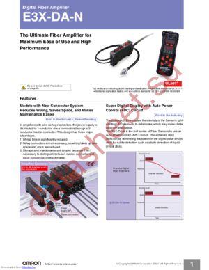 E3X-DA7 datasheet скачать даташит