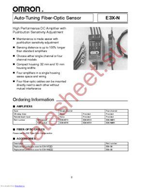 E3X-NT51 datasheet скачать даташит