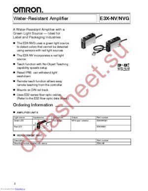 E3X-NV21 datasheet скачать даташит