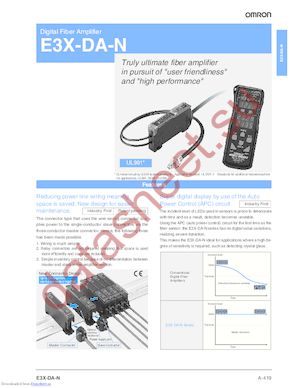 E3X-DA41-N datasheet скачать даташит