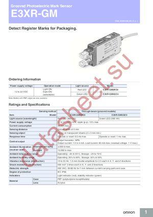 E3XRGM5GB4 datasheet скачать даташит