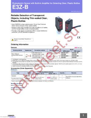 E3Z-B82 datasheet скачать даташит