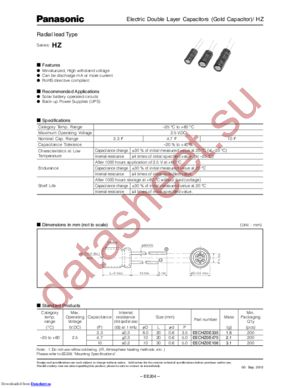EECHZ0E475 datasheet скачать даташит