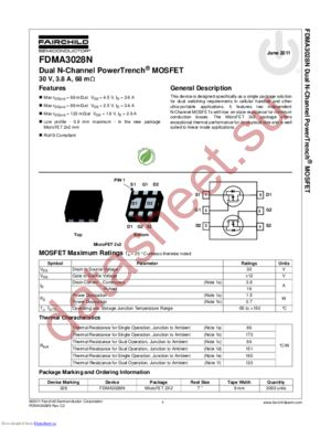 FDMA3028N datasheet скачать даташит