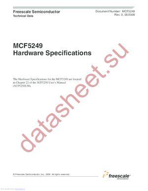MCF5249LAG120 datasheet скачать даташит