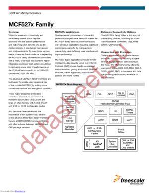 MCF5272CVM66 datasheet скачать даташит